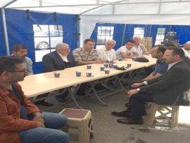Şehit Yasin Sarı'nın taziye çadırında dualar edildi