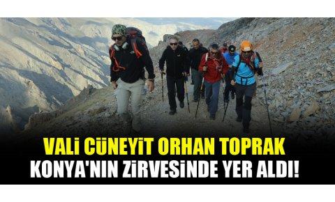 Konya Valisi Cüneyit Orhan Toprak, Aydos dağına tırmandı