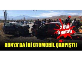 Konyada iki otomobil çarpıştı: 2 ölü, 3 yaralı