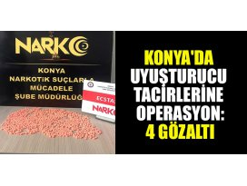 Konyada uyuşturucu tacirlerine operasyon: 4 gözaltı