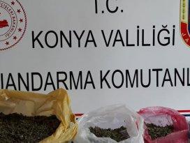 Konyada Jandarmadan uyuşturucu operasyonu!