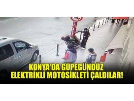 Konyada güpegündüz elektrikli motosikleti çaldılar!