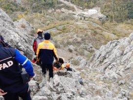 Konyada dağda mahsur kalan keçileri AFAD kurtardı