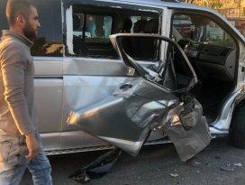Aladdin Bulvarında kaza! Trafik sıkıştı