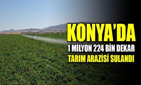 Konya'da 1 milyon 224 bin dekar tarım arazisi sulandı