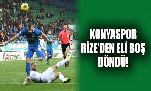 Konyaspor Rizeden eli boş döndü!
