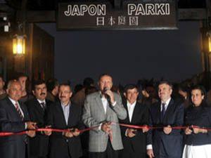 Erdoğan, Japon Parkını hizmete açtı
