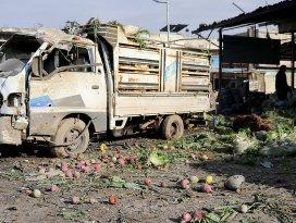 Esed rejimi İdlibde pazar yerini vurdu: 11 ölü, 20 yaralı