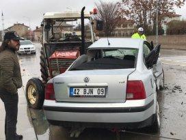 Konyada zincirleme trafik kazasında 4 kişi yaralandı