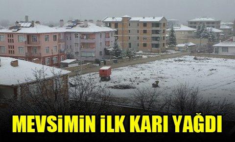 Mevsimin ilk karı yağdı