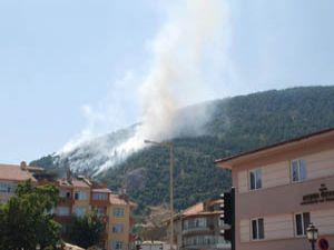 Akşehirdeki orman yangını söndürüldü