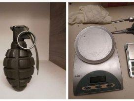 Başkentte çevreyolunda uyuşturucu satan şüphelinin evinde el bombası çıktı