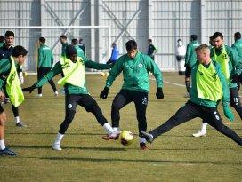 Konyasporda Ankaragücü maçı hazırlıkları sürüyor