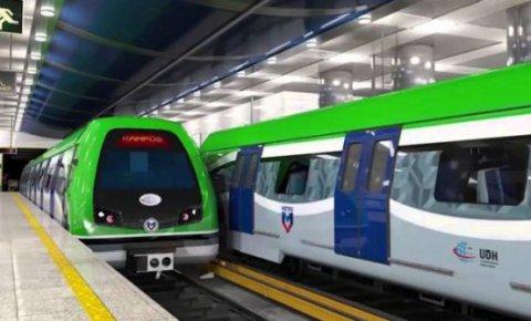 Konya metrosunun ilk etabı...