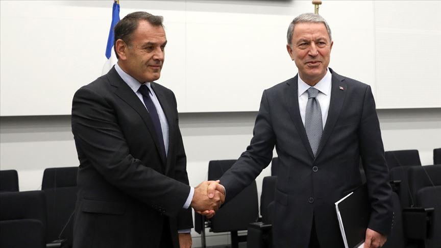 Akar, Yunanistan Savunma Bakanı Panagiotopoulos ile görüştü