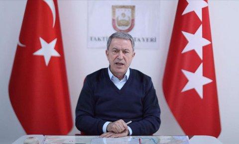 Akar: Bahar Kalkanı Harekatında 2557 rejim unsuru etkisiz hale getirildi