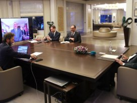 Erdoğan, kabine üyeleriyle video konferansta görüştü