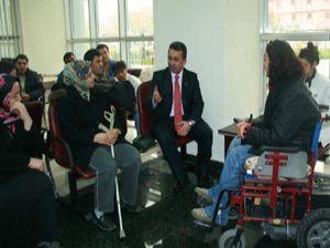 Engellilerden Hançerliye tebrik ziyareti