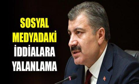Sağlık Bakanı Kocadan sosyal medyadaki iddialara yalanlama