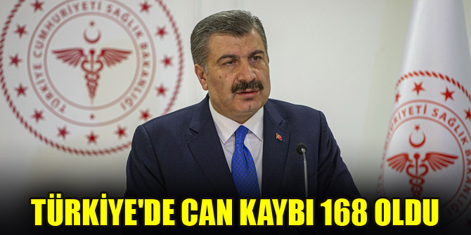 Türkiyede can kaybı 168 oldu