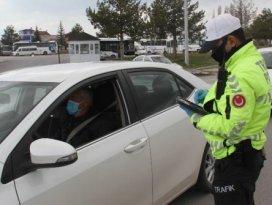 Beyşehirde polisin koronavirüs denetimleri sürüyor
