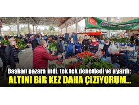Meram Belediye Başkanı Mustafa Kavuş, Muhacir Pazarını denetledi