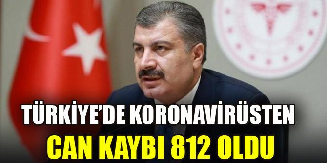 Türkiyede koronavirüsten hayatını kaybedenlerin sayısı 812ye yükseldi