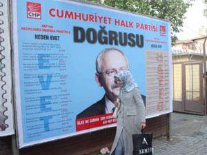 CHPde Rahibeli afiş istifası