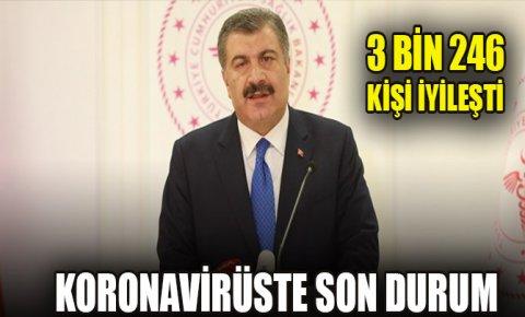 Türkiyede bugünün koronavirüs bilançosu: 3 binden fazla kişi iyileşti