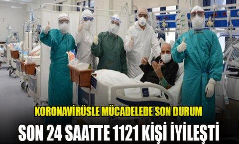 Türkiyede son 24 saatte 1121 kişi iyileşti, 27 kişi vefat etti
