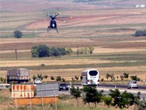 Konya-Ankara yolu havadan denetleniyor