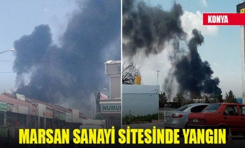 Konyada Marsan Sanayi Sitesinde fabrika yangını