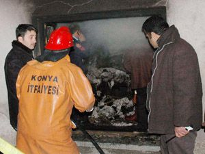 Beyşehirde ev yangını: 1 yaralı