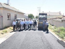 Başkan Kılca, asfaltlama çalışmalarını inceledi