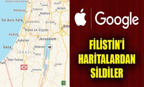 """Hamas'tan, Filistin'i haritalardan """"silen"""" Google ve Apple'a tepki!"""