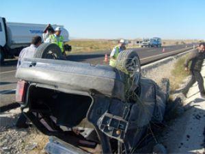 Konyada otomobil takla attı: 1 ölü