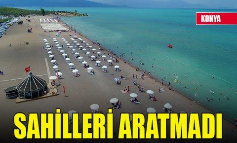 Beyşehir Gölünde plaj keyfi