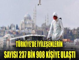 Türkiyede iyileşenlerin sayısı 237 bin 908 kişiye ulaştı