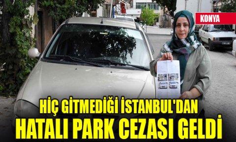 Hiç gitmediği İstanbuldan hatalı park cezası geldi