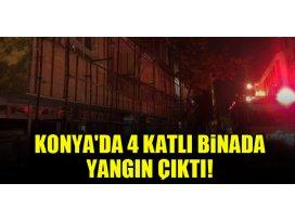 Konyada 4 katlı binada yangın çıktı!