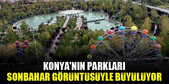 Konyanın parkları sonbahar görüntüsüyle büyülüyor