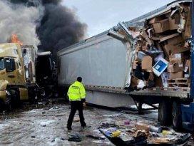 ABD'de 29 araçlı zincirleme kaza: 9 yaralı