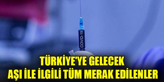Türkiyeye gelecek aşı ile ilgili tüm merak edilenler...