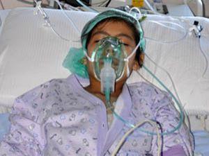 Hasta kız çelik çubukla iyileşti