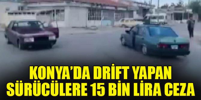 Drift yapan sürücülere 15 bin lira ceza kesildi, ehliyetlerine el konuldu