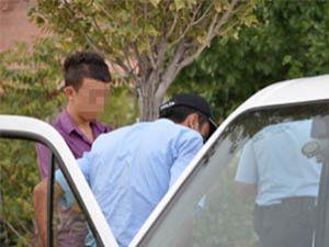 Otomobili dedesinden kaçırdı polise yakalandı