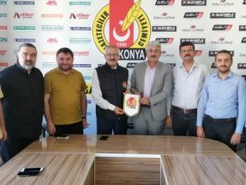 Solmaz ve Öztürk'ten Konya Gazeteciler Cemiyeti'ne ziyaret
