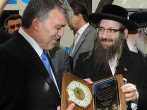 Cumhurbaşkanı Güle Yahudilerden plaket