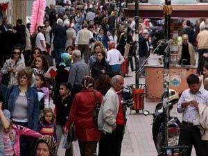 Türkiyede kilometrekareye 94 kişi düşüyor