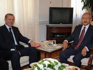 Erdoğan ve Kılıçdaroğlu görüşüyor.